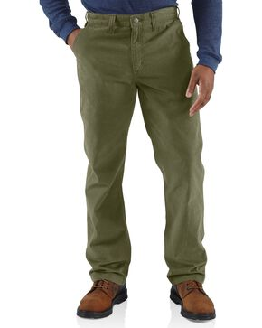 Carhartt Men's Rugged Work Khaki Pants, Green, hi-res
