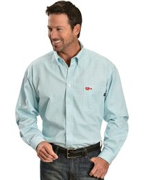 Cinch WRX Men's Flame Resistant Long Sleeve Checkered Twill Work Shirt, , hi-res