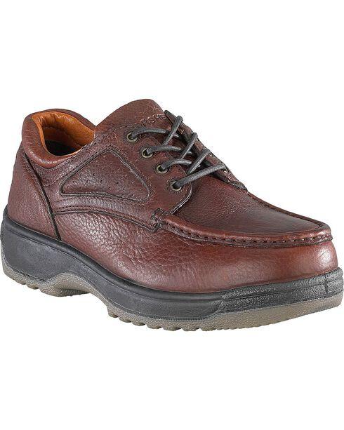 Florsheim Men's Compadre Steel Toe Lace-Up Oxford Shoes, Brown, hi-res