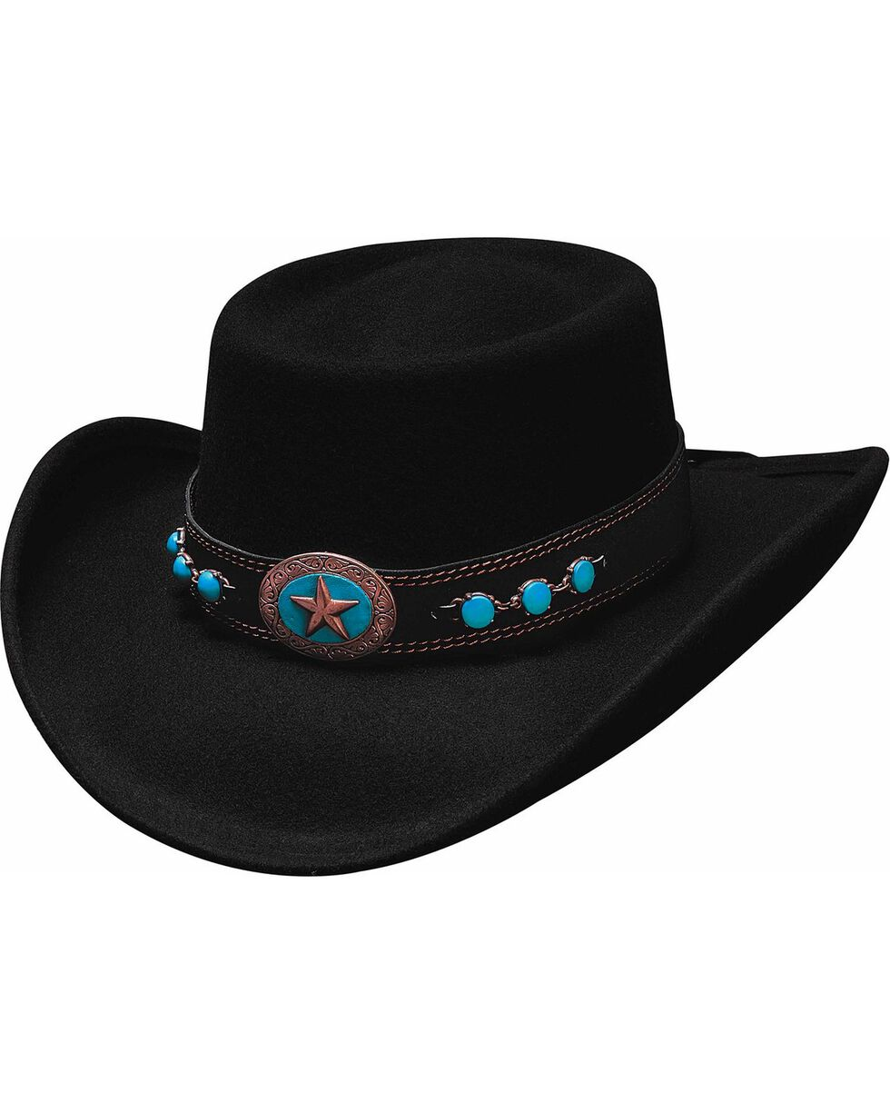 Bullhide Women's Lucky 4 U Wool Hat, Black, hi-res