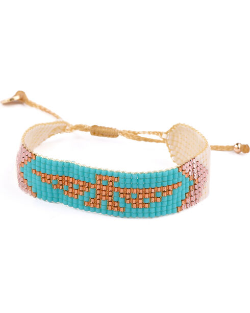 Kutula Kiss Women's Small Turquoise Hell To Pay Bracelet , Turquoise, hi-res