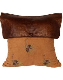 HiEnd Accents Lodge Pine Cone Pillow, , hi-res