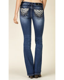 Miss Me Women's Embroidered Boot Cut Jeans, , hi-res
