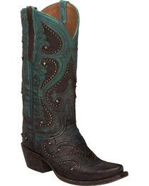 Lucchese Aqua Ombre Gemma Cowgirl Boots - Snip Toe , , hi-res
