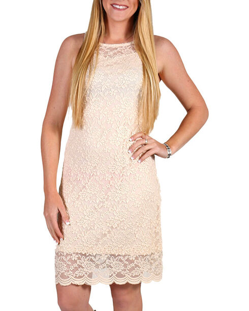 Jody Of California Women's Lace Dress, Natural, hi-res
