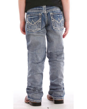 Rock & Roll Cowboy Youth Boys' BB Gun Medium Vintage Wash Jeans - Boot Cut, Indigo, hi-res