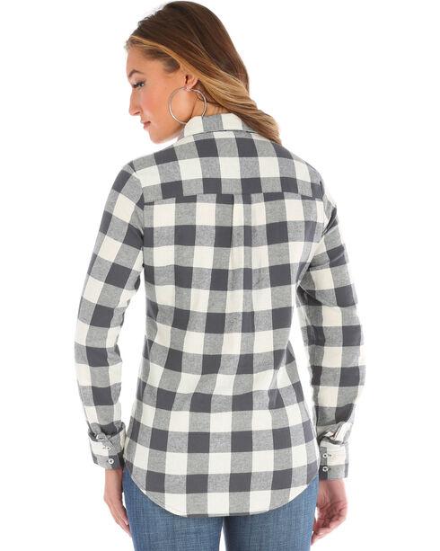 Wrangler Women's Large Check Flannel, Cream, hi-res