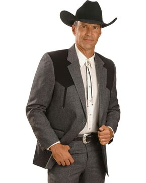 Circle S Men's Western Sports Coat, Hthr Chrcl, hi-res