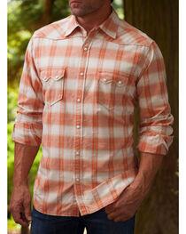 Ryan Michael Men's Ombre Paprika Plaid 9 Western Shirt, , hi-res