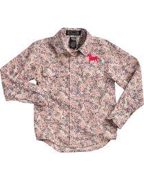 Shyanne Toddler Girls' Floral Horse Embroidered Long Sleeve Shirt, , hi-res
