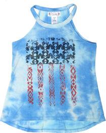 Shyanne® Girls' Tie-Dye Americana Tank Top , , hi-res