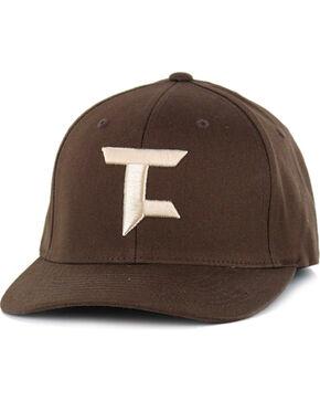Tuf Cooper by Panhandle Men's Logo FlexFit Ball Cap, Brown, hi-res