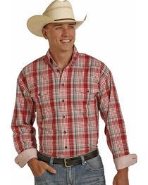 Panhandle Men's Poplin Twill Plaid Shirt - Big and Tall , , hi-res