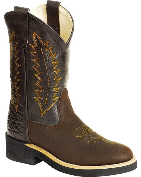 Jama Children's Crepe Sole Western Boots, Distressed, hi-res