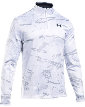 Under Armour Men's Franchise Camo 1/4 Zip Fleece Pullover , White, hi-res