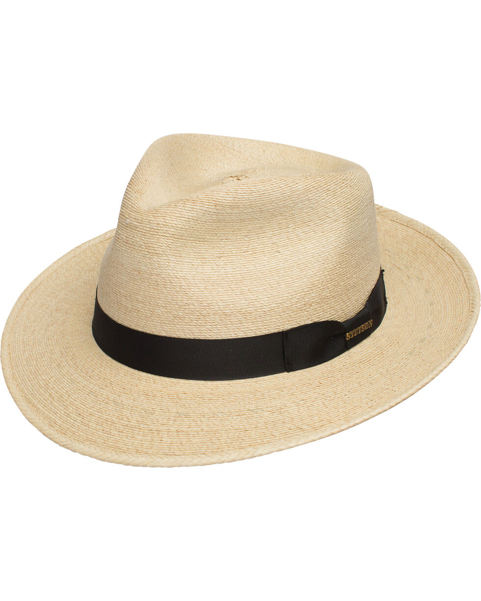 Stetson Men's Rushmore Straw Fedora, Natural, hi-res