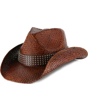 Shyanne® Women's Hector Straw Cowboy Hat, Dark Brown, hi-res