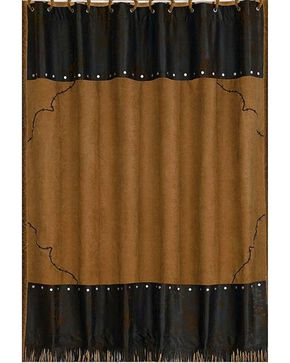HiEnd Accents Barbed Wire Shower Curtain, Tan, hi-res