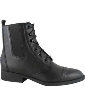 Smoky Mountain Women's Leather Paddock Boots, Black, hi-res
