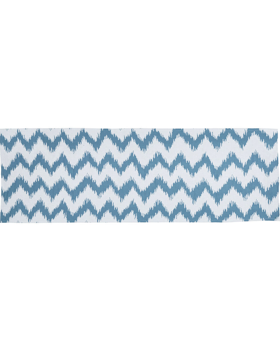 HiEnd Accents Catalina Chevron Print Super Queen Bed Runner, Multi, hi-res