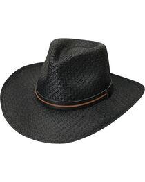 Black Creek Men's Black Toyo Straw Hat , , hi-res