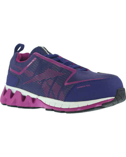 Reebok Women's Zigwild TR2 Althetic Oxford Work Shoes - Round Toe , Purple, hi-res