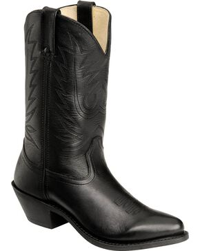 "Durango Women's 11"" Leather Western Boots, Black, hi-res"