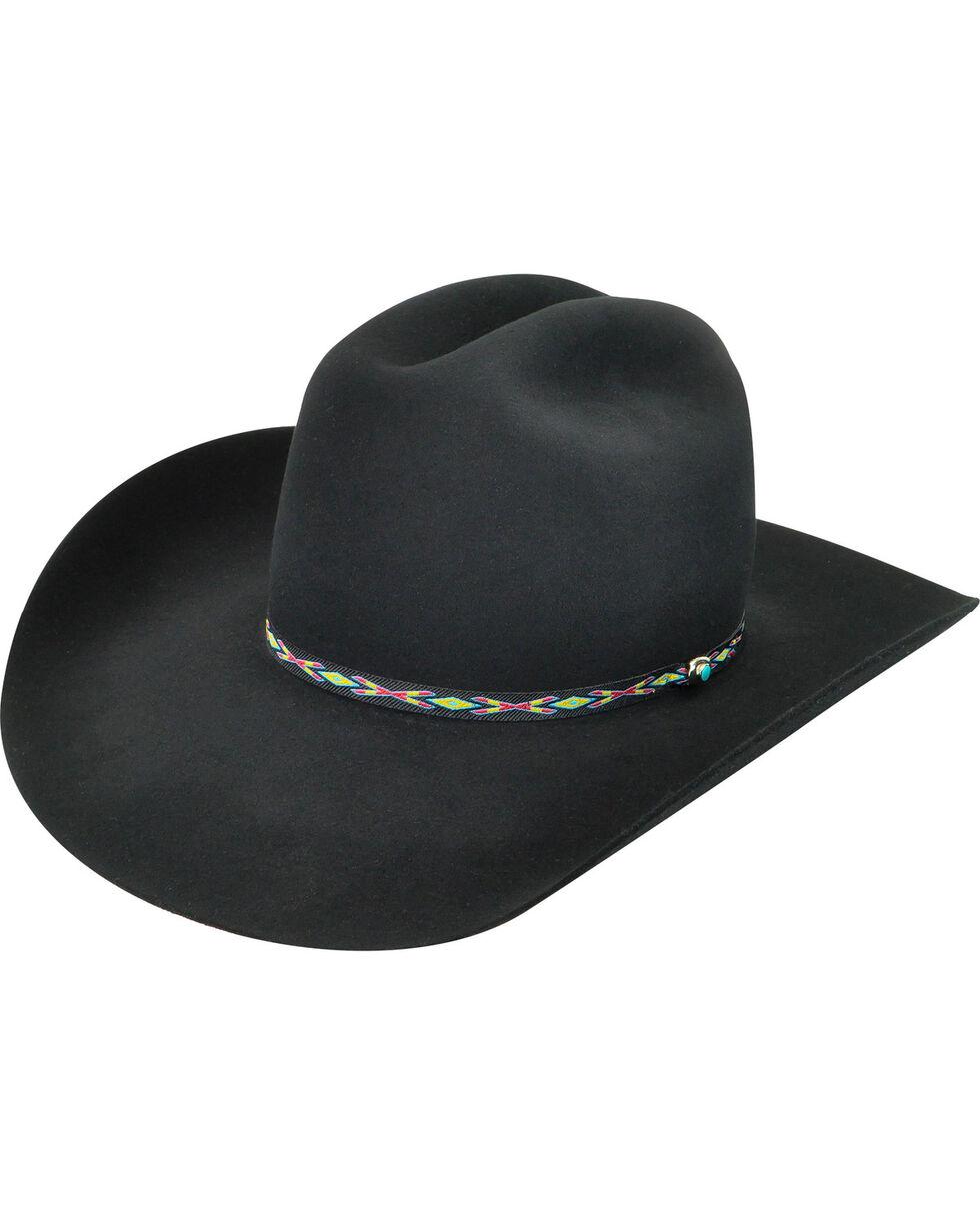 Bailey Men's Black Bridger 3X Wool Felt Cowboy Hat, Black, hi-res