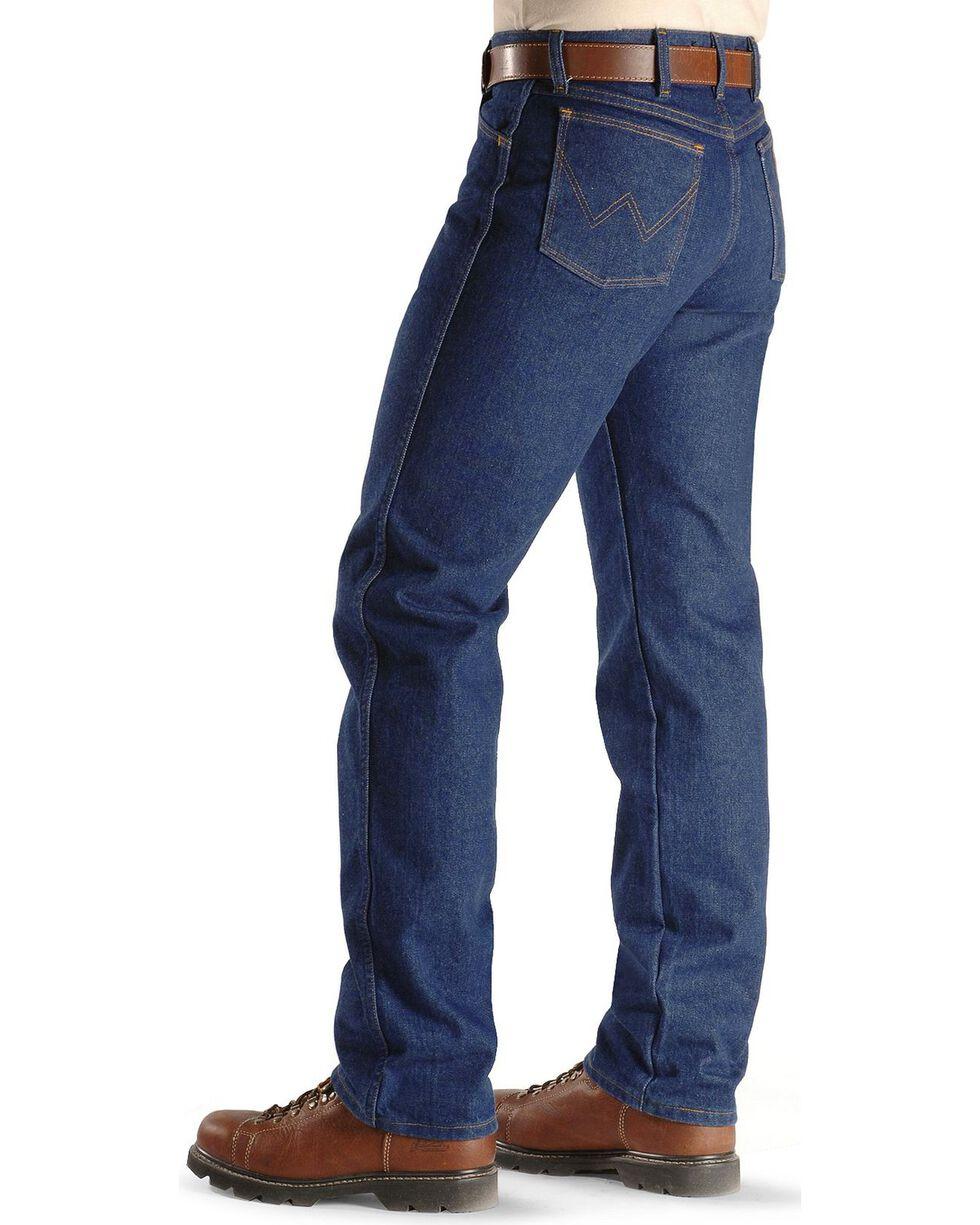 Wrangler Men's Flame Resistant Original Fit Jeans, Denim, hi-res