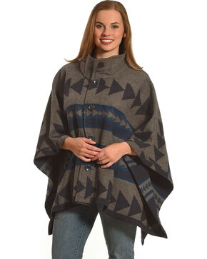 Pendleton Women's Navy Chaparral Cape , Navy, hi-res