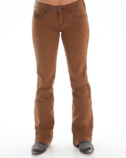 Cowgirl Tuff Women's Bonanza Boot Cut Jeans, Rust Copper, hi-res