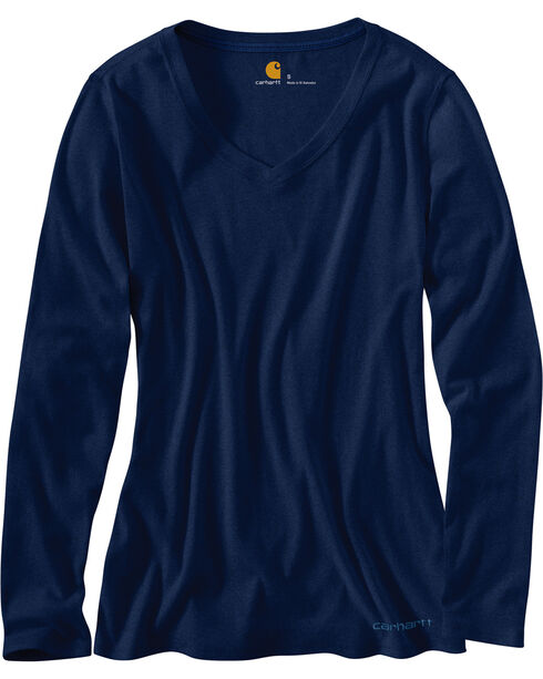 Carhartt Women's Long Sleeve Calumet Shirt, Indigo, hi-res