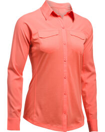 Under Armour Women's Orange Tide Chaser Hybrid Shirt, , hi-res