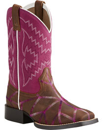 Ariat Girls' Twisted Tycoon Western Boots, , hi-res