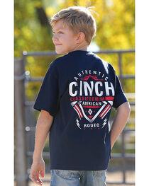 Cinch Boys' Navy American Rodeo Tee , , hi-res