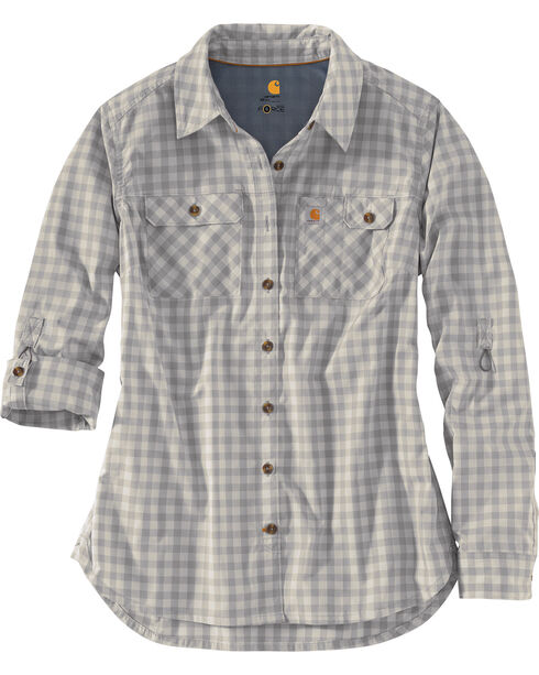 Carhartt Force Women's Ridgefield Shirt, Dark Grey, hi-res