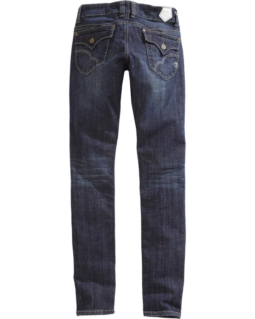 Tin Haul Women's Trixie Wave Stitch Skinny Jeans, Denim, hi-res