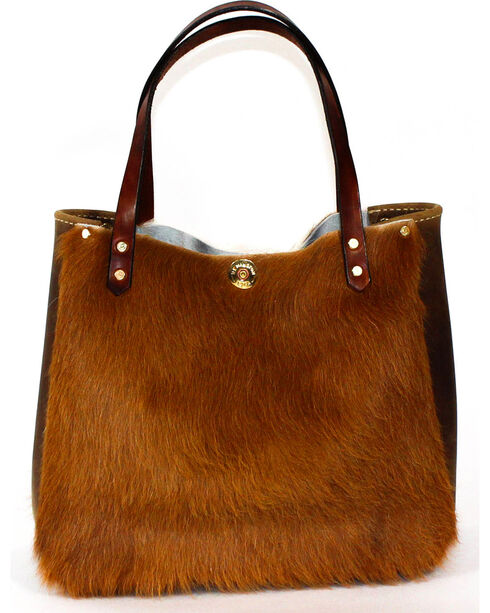 SouthLife Supply Women's Shiloh Cowhide Small Bucket Bag, Multi, hi-res