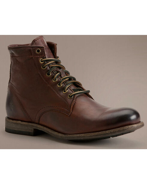 Frye Tyler Lace Up Boots, Dark Brown, hi-res