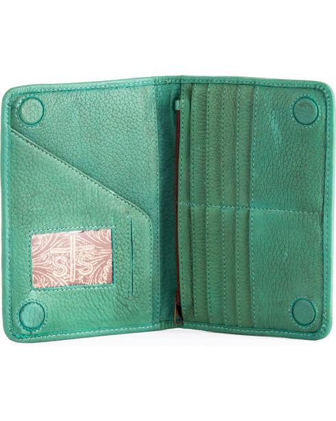 STS Ranchwear Jade Magnetic Wallet , Light/pastel Green, hi-res
