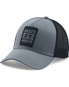 Under Armour Men's Outdoor Trucker Ball Cap, Grey, hi-res