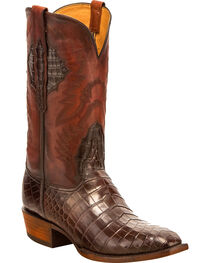 Lucchese Men's McKinley Nile Crocodile Western Boots - Square Toe, , hi-res