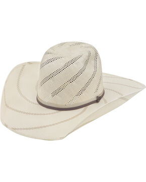 Justin Men's Bent Rail Tornado Straw Cowboy Hat, Ivory, hi-res