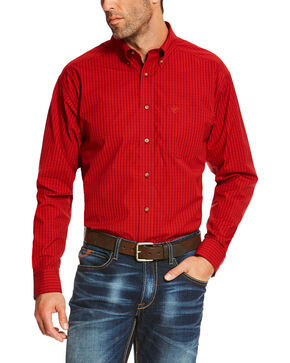 Ariat Men's Ruby Sandberg Plaid Button Up Pro Shirt - Big, Ruby, hi-res