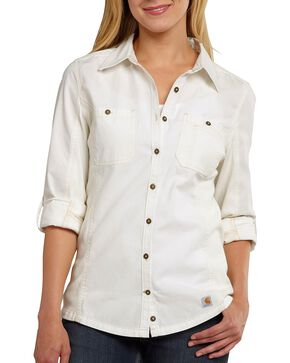 Carhartt Women's Minot Shirt, White, hi-res