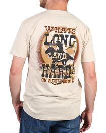 Cowboy Up Men's Back Graphic Tee, , hi-res