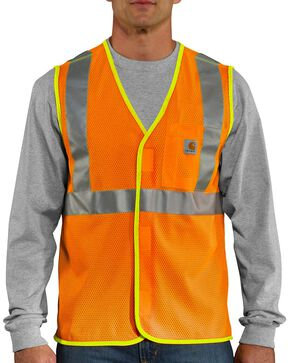 Carhartt Men's High Visibility Class 2 Vest, Orange, hi-res