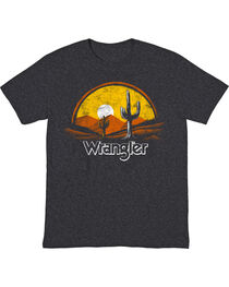 Wrangler Men's Black Sunset Western Tee , , hi-res