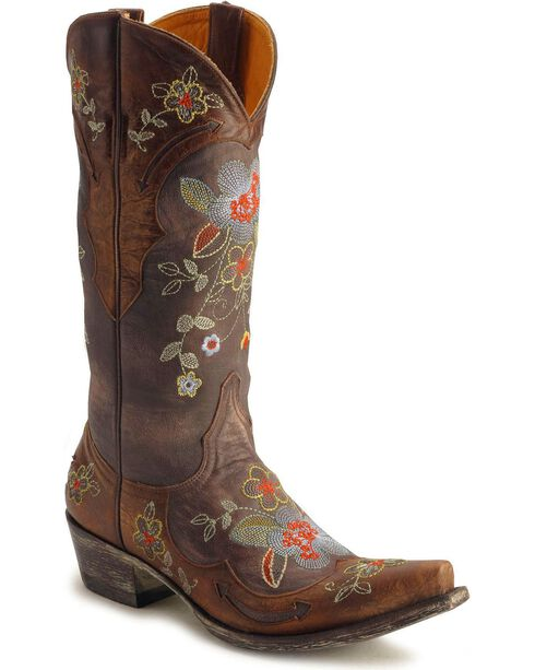 "Old Gringo Women's Bonnie 13"" Western Boots, Chocolate, hi-res"