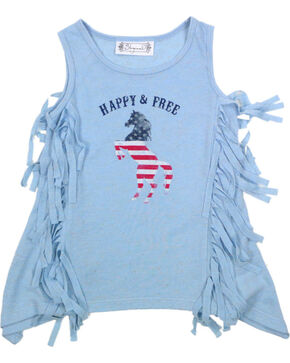 Shyanne® Toddler Girls' Happy & Free Tank, Light/pastel Blue, hi-res